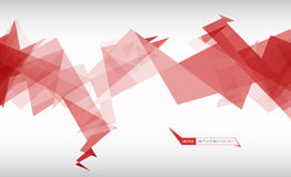 Trendy banner from abstract triangles Royalty Free Stock Photo