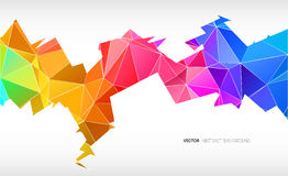 Trendy banner from abstract triangles Stock Images