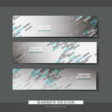 Trendy banner template design Royalty Free Stock Image