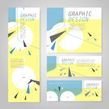 Trendy banner template design Stock Photography