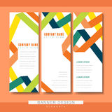 Trendy banner template set design. With paper folded elements Stock Photography