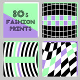 Trendy banners in 80s style. For your decoration Royalty Free Stock Photography