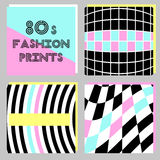 Trendy banners in 80s style. For your decoration Royalty Free Stock Photo