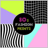 Trendy banners in 80s style. For your decoration Stock Image
