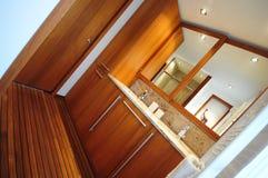 Trendy bathroom. Trendy new bathroom - abstract orientation Stock Images
