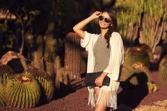 Trendy beautiful girl Stock Images