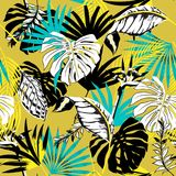 Trendy Beautiful seamless triopical summer pattern backgr vector illustration