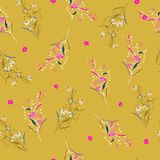 Trendy Beautiful summer bright garden Floral pattern in the many stock illustration