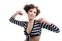 Trendy beautiful woman Royalty Free Stock Image