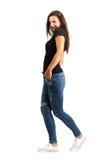 Trendy beautiful woman posing Royalty Free Stock Photo