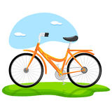 Trendy Bicycle. Illustration of trendy bicycle standing on grass royalty free illustration