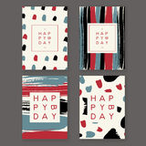 Trendy birthday cards Royalty Free Stock Images