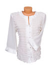 Trendy blouse op een wit. Royalty-vrije Stock Afbeelding