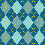 Trendy blue argyle seamless pattern background Royalty Free Stock Photography