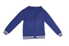 Trendy blue cardigan Stock Images