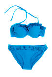 Trendy blue swimsuit. Stock Photos