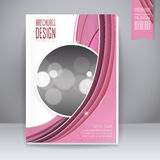 Trendy book cover template design Stock Image