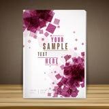Trendy book cover template design Stock Photo