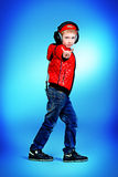 Trendy boy royalty free stock photo
