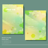 Trendy brochure template design royalty free illustration