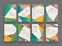 Trendy brochure template Stock Images