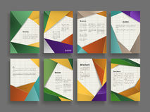 Trendy brochure template Royalty Free Stock Image