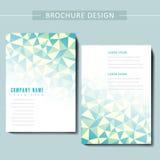 Trendy brochure template design Stock Images