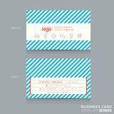 Trendy Business card Design Template Royalty Free Stock Photo