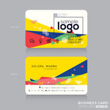 Trendy business card with Postmodernism background Royalty Free Stock Images