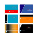 Trendy business card template collection. Trendy and modern business card template collection vector Royalty Free Stock Photo