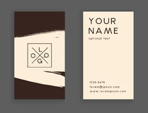 Trendy business card Royalty Free Stock Image