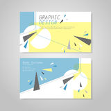 Trendy business card template design Royalty Free Stock Images