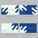 Trendy business card template Royalty Free Stock Images