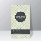 Trendy business card template Stock Images