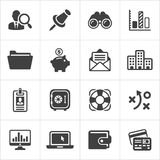 Trendy business and economics icons set 3. Vector Royalty Free Stock Photos