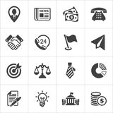 Trendy business and economics icons set 1. Vector. Trendy business and economics icons on white set 1. Vector illustration Stock Photography
