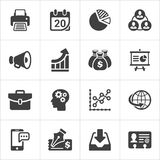 Trendy business and economics icons set 2. Vector Royalty Free Stock Photography