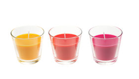 Trendy candles royalty free stock photo