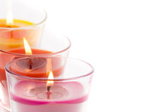 Trendy candles Royalty Free Stock Photography