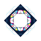 Trendy card frame style design. Abstract geometric elements. Lay Stock Images