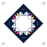 Trendy card frame style design. Abstract geometric elements Stock Photography