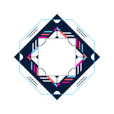 Trendy card frame style design. Abstract geometric elements Royalty Free Stock Photography