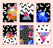 Trendy card memphis style design. Abstract geometric elements Royalty Free Stock Photo