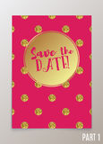 Trendy card for weddings, save the date invitation, RSVP and thank you cards. Royalty Free Stock Image