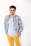 Trendy casual man standing isolated Royalty Free Stock Photo