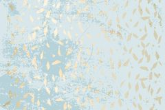 Chic geometric card set. Trendy Chic Pastel colored background with Gold Foil geometric shapes. Abstract unusual textures for wallpaper, wedding invitation cards stock illustration