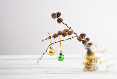 Trendy christmas decorations stock photography