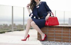 Trendy City Woman Stock Image