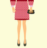 Trendy clothes for women  illustration Royalty Free Stock Photos