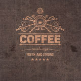 trendy coffee badge,label Stock Photography